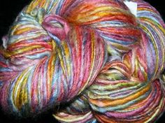 I bought this yarn and using it to make the hair on a doll for my goddaughter.... so beautiful