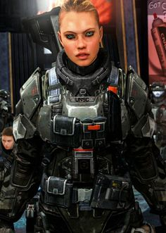 Female ODST Close Up by this is so cool Character Inspiration, Character Art, Character Design, Odst Halo, Seize Ans, Halo Series, Female Armor, Sci Fi Armor, Future Soldier