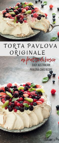 Discover recipes, home ideas, style inspiration and other ideas to try. Lemon Curd Pavlova, Strawberry Pavlova, Meringue Cake, Meringue Pavlova, Pavlova Recipe Best, Australian Pavlova, Mini Pavlova, Pavlova Toppings, Italian Desserts