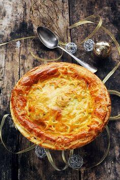 Pie aux noix de Saint Jacques et aux légumes pour continuer mon menu de fête très Brit'Food pour Marque Repère!