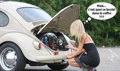 Ne pas confondre compartiment moteur et coffre.