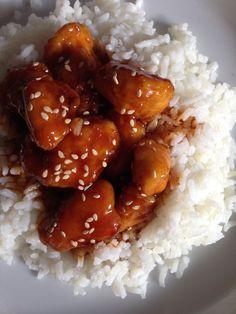 Gebackenes Honig- Sesam Hühnchen, chinesische Art Rezept. Sooooo extrem lecker!! Ein muss!!