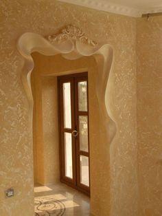 New Unique Bathroom Door Ideas Ideas Plaster Art, Plaster Walls, Ceiling Design, Wall Design, House Design, Muebles Estilo Art Nouveau, Plafond Design, House Entrance, Trendy Home