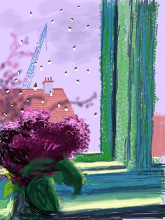 David Hockney Has Made Beautiful (and Rarely Seen) iPad Drawings of the View From His Bedroom Window. David Hockney Ipad, David Hockney Art, David Hockney Paintings, Gravure Illustration, Illustration Art, Iphone Drawing, Pop Art Movement, Art World, Lovers Art