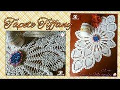 Trabajo de mesa Tiffany en Crochê.1 / 3 Por Vanessa Marcondes. - YouTube