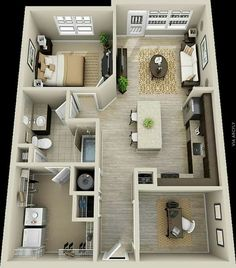 50 One Bedroom Apartment House Plans50 One  1  Bedroom Apartment House Plans   Apartment floor plans  . One Bedroom Apartment. Home Design Ideas