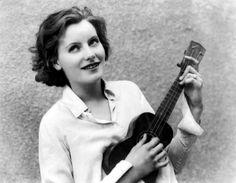 Greta Garbo Playing the Ukulele