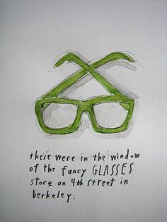 pretty glasses via rae dunn's sketching