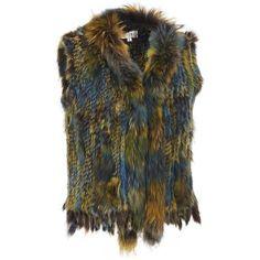 Plus Size Wilsons Leather Plush Fur Multicolor Vest ($205) ❤ liked on Polyvore featuring plus size women's fashion, plus size clothing, plus size outerwear, plus size vests, vest, fur, plus size, plus size vest, fur vests and fringe vests