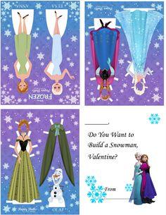Frozen Paperdoll Valentine's Day cards!