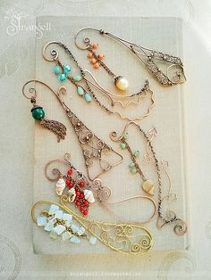 "Bookmarks for books handmade.  Fair Masters - handmade copper tab for books ""Versailles"", agate.  Handmade."
