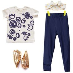 Kid and Kind t-shirt, Nula leggings, Potato Feet shoes, The fabric Gal Boutique headband