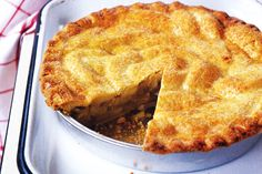 Plate up piping hot apple pie with delicious chunks of apples for a spectacular winter dessert.