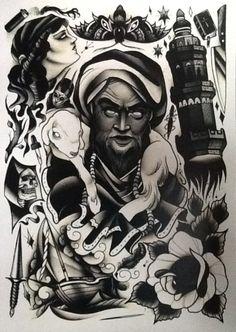 Pari Corbitt Tattoo Art Flash Sheet 07