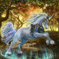 Unicorn by Konsuello on DeviantArt Mythical Creatures Art, Mythological Creatures, Magical Creatures, Beautiful Creatures, Unicorn Fantasy, Unicorn Art, Anime Fantasy, Unicorn Pictures, Fantasy Beasts