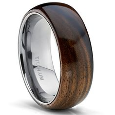6MM Dome Titanium Wedding Engagement Ring Band W/ Real Dark Hawaiian Koa Wood Inlay Size 6 Metal Masters Co. http://www.amazon.com/dp/B00OQPB8VU/ref=cm_sw_r_pi_dp_DN5uvb1QKJ7WC
