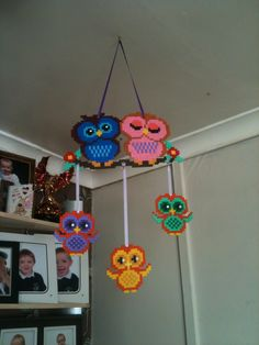 Owl mobile with added bling & ribbons.