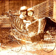 Kitty Griffin (1899-1999) and her brother Oswald Griffin (1899-1943) in Fall River, Massachusetts around 1902