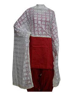 White Phulkari Dupatta Phulkari Dupatta  -Computerized Phulkari Full Jaal Dupatta  -Faux Chiffon Length – 2.35 Meter  -Wash Care – Regular Soft Wash Shop0 Now : https://www.punnjab.com/white-phulkari-dupatta-jda1006