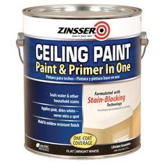 Zinsser Ceiling Paint / Primer, Goes On Pink, Gal.: Model# 260967   True Value