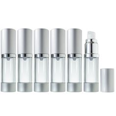 Airless Pump Bottle Refillable Travel Container - 0.5 fl oz (6 Pack) * Hurry! Check out this great product : Travel essentials
