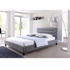 Hillary Grey Fabric Upholstered Platform Bed