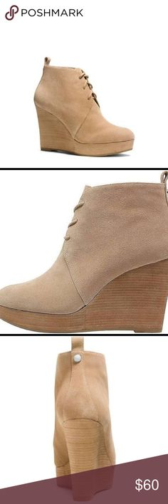 43b7c675341e Michael Kors Pierce Lace Up Wedge Brand New Wedge Booties from Michael Kors.  Heel Height  Suede and Leather Lining MICHAEL Michael Kors Shoes Heeled  Boots