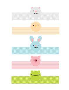 FREE printable Animal Easter Egg Wraps for kids