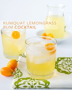 Kumquat Lemongrass Rum Cocktail :: A sweet and sour way to say so long to winter and cheers to the beginning of spring!