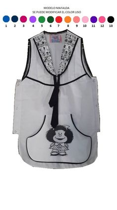 guardapolvo delantal maestra escuela jardin poncho auxiliar Betty Boop, Sewing Hacks, Bandana, Athletic Tank Tops, Women, Chefs, Fashion, Apron, Lab Coats