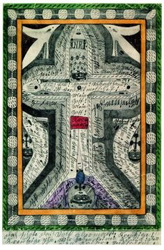 """""""The Crucifixion of Jesus Christ"""", From """"Books with Songs. and Dances"""" (Outsider Art) Outsider Art, Tantra, Augustin Lesage, Crucifixion Of Jesus, Jesus Christ, Art Visionnaire, Art Brut, Naive Art, Visionary Art"""