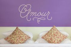 Amour Amore Amor Love Decal