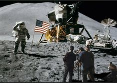 Astronaut on lunar (moon) landing mission. Elements of this image furnished by NASA. Apollo 11, Stanley Kubrick, Endangered Animals Facts, Programa Apollo, Black Knight Satellite, Aliens On The Moon, Ufos Are Real, Lunar Moon, Nasa Photos