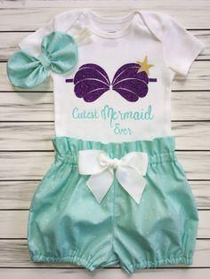 Tutu Skirt Mermaid Shell T-Shirt BabyGrow Fancy Dress Cake Smash Party Princess