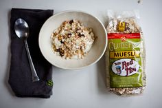 Bob's Red Mill Muesli from @Julie Detwiler. Healthy, easy, fast, done!