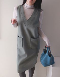 Know the latest and the hottest Korean fashion! You can find all types of Korean clothing here from tops, bottoms, dresses, outerwear and bikinis! Stylish Work Outfits, Pretty Outfits, Boho Fashion, Fashion Dresses, Womens Fashion, Pinafore Dress, Korean Outfits, Blouse Styles, Mode Inspiration