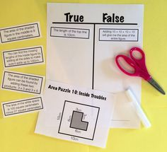 reasoning puzzles (area): increase math talk in your classroom.  students determine the truthfulness of six statements, then get together with a group to defend their thinking and critique the reasoning of others.