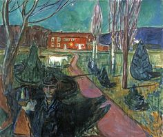 "Edvard Munch , ""Evening Mood"""
