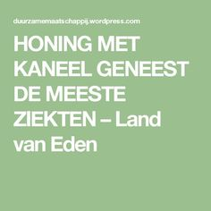 HONING MET KANEEL GENEEST DE MEESTE ZIEKTEN – Land van Eden Get Healthy, Healthy Tips, Spiritual Health, Body Language, Land, Natural Healing, Cholesterol, Good To Know, Diabetes