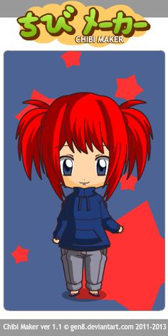 This chibi is still in her pajamas. Yup that's right I went for the traditional tracksuit bottoms and a top!YaY for LAZY dayz!!!