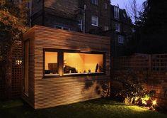 Garden Studio, Modern/Cube - contemporary - prefab studios - Decorated Shed Backyard Office, Outdoor Office, Backyard Studio, Garden Office, Backyard Cabin, Outdoor Living, Exterior House Lights, Home Office Design, House Design