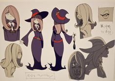 Little Witch Academia Background Art, Character Designs, KA Cuts (from Anime Mirai exhibition and the official BD)