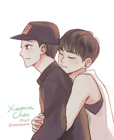 EXO | Chen e Xiumin | XiuChen fanart by Hym #duckhymne ( >.< love Hym)