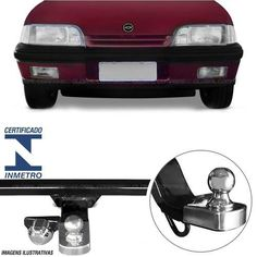 Engate De Reboque Gm Monza 1991 Em Diante Inmetro 400kg 4 F - R$ 219,89
