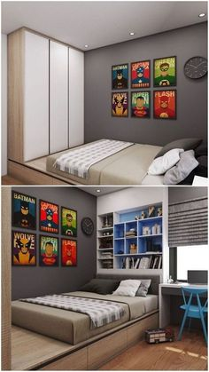 24 Incredible Kids Bedding Sets And Decor Ideas For Cozy Kids Bedroom - lmolnar - Lena & Ben Zimmer Boys Bedroom Decor, Childrens Room Decor, Home Bedroom, Modern Bedroom, Bedroom Wall, Bedroom Furniture, Furniture Plans, Kids Bedroom Boys, Boys Furniture