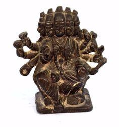 Antique Hindu Goddess Brass Figure Very Rare High Patina. G53-30 #Unbranded #Antique
