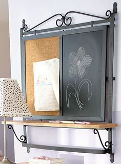 NR - Wrought Iron Tall Baker's Rack Top Wall Unit-71409  With school back in the kids bring so many papers home that it gets a little confusing with so many different things to remember, well this is the piece to have. I keep all my papers tacked on one side and I keep my list on the other side of what I need to get the kids and from the grocery store. It is also 40% off!  Check out my website at: www.longaberger.com/teralynnbelin
