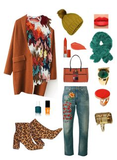 """Autumn bright"" by ira-trutneva on Polyvore featuring мода, Chloé, Topshop, Gucci, Essie, JINsoon, NOVICA, Miss Selfridge, Kat Von D и STELLA McCARTNEY"