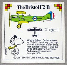 Snoopy and Bristol F2-B Airplane