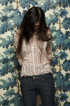 love the top and the wallpaper. bohemia abounds.
